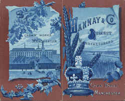 Advert for Hannay & Co, biscuit manufacturer